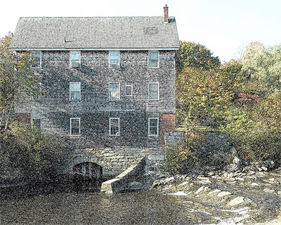 Maine Mill Poster