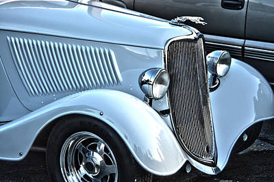 Mainstream Class Vintage Ford Car Art Poster by Lesa Fine