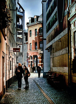 Poster featuring the photograph Mainz Badergasse by Jim Hill