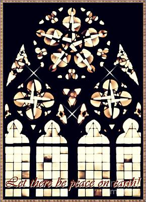 Mainz Cathedral Window Card 2 Poster by Sarah Loft