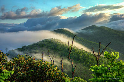 Majestic Clouds Blue Ridge Parkway Smoky Mountains Art Poster