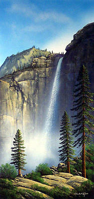 Majestic Falls Poster by Frank Wilson