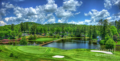 Majestic Golf Highlands Country Club Golf Art Poster