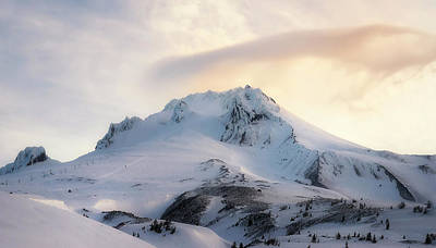 Poster featuring the photograph Majestic Mt. Hood by Ryan Manuel