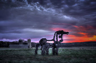 Majestic Sunrise The Iron Horse Poster by Reid Callaway