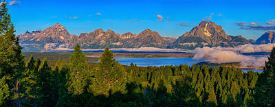 Majestic Tetons Poster by Greg Norrell