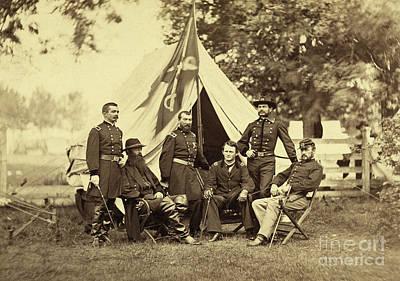 Major General Philip Sheridan And His Generals Poster by American School
