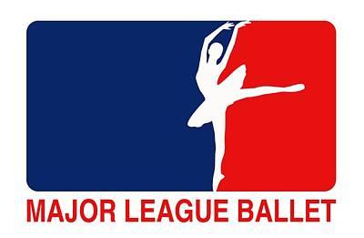 Major League Ballet Poster by Nancy Ingersoll
