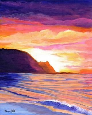 Makana Sunset Poster by Marionette Taboniar