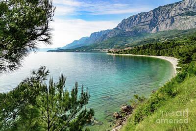 Makarska Riviera White Stone Beach, Dalmatian Coast, Croatia Poster