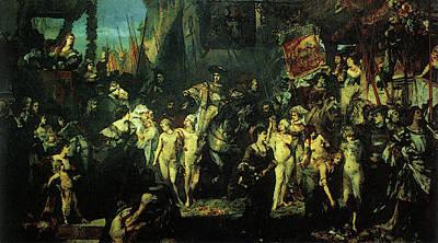 Makart Hans Der Einzug Karls V In Antwerpen Poster