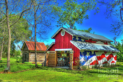 Make America Great Again Barn American Flag Art Poster