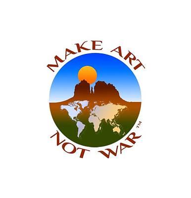 Make Art Not War Logo Poster