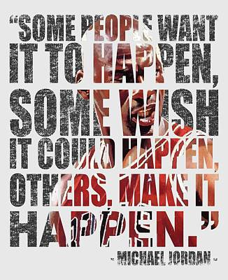 Make It Happen Poster by Iman Cruz