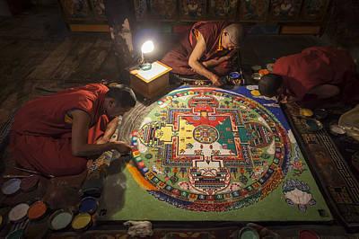 Making Of Mandala Poster by Hitendra SINKAR