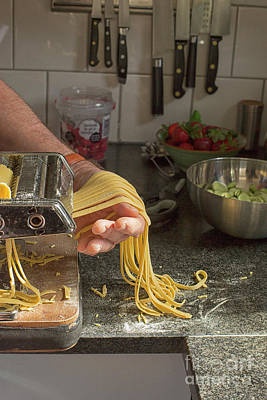 Poster featuring the photograph Making Pasta by Patricia Hofmeester