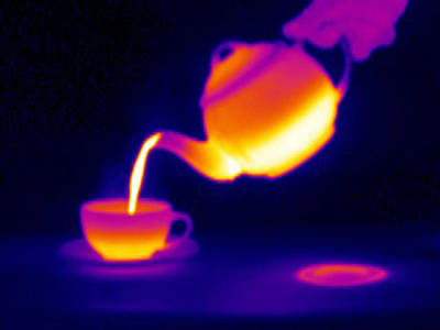 Making Tea, Thermogram Poster