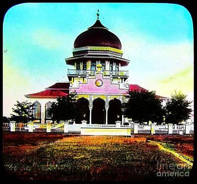 Malay Mosque Singapore Circa 1910 Poster by Peter Gumaer Ogden