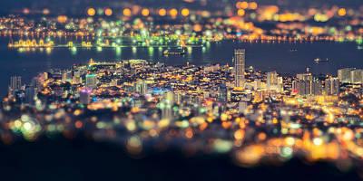Malaysia Penang Hill At Night Poster by Jordan Lye