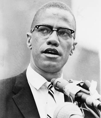 Malcolm X 1925-1965, Forceful African Poster by Everett