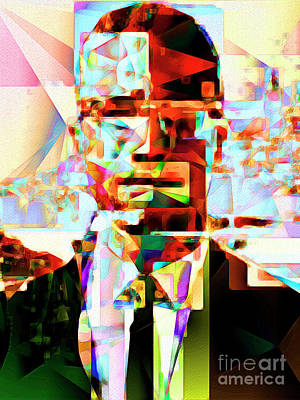 Malcolm X In Abstract Cubism 20170329 Poster by Wingsdomain Art and Photography