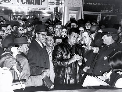 Malcolm X Smiles As Muhammad Ali Autographs Poster by Jovemini ART
