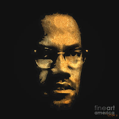 Malcolm X Poster by Walter Oliver Neal