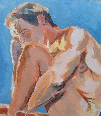 Male Nude Painting Poster