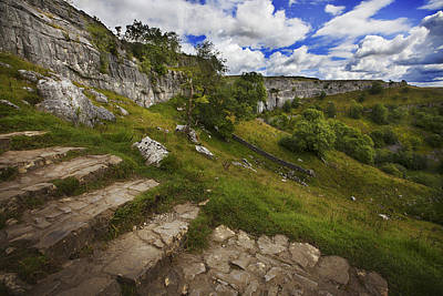 Poster featuring the photograph Malham Cove, Yorkshire, Uk by Richard Wiggins