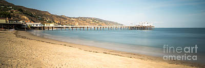 Malibu Pier Surfrider Beach Panorama Photo Poster