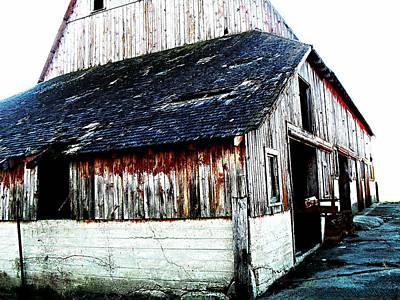 Mallard Barn Poster by Julie Hamilton