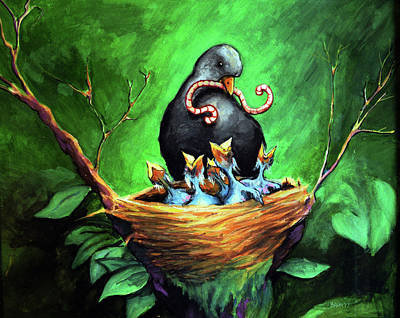 Mama Bird Poster by Chris Bahn