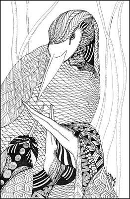 Mama Heron Poster