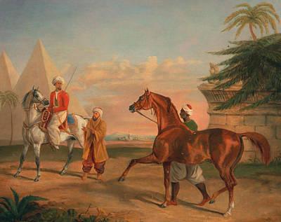 Mameluke Purchasing An Arabian Stallion Poster