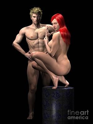 Studio Couple Render 09 Poster by Carlos Diaz