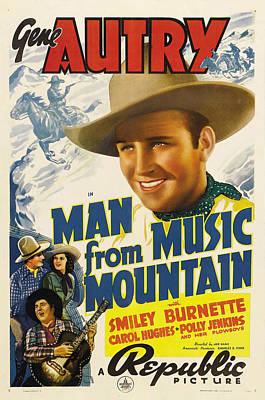 Man From Music Mountain, Gene Autry Poster by Everett