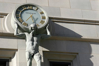 Man Holding Up Time Poster