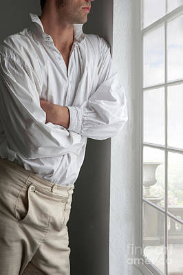 Man In Historical Shirt And Breeches Poster by Lee Avison