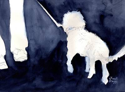 Man Walking His Dog 2.5 Poster by Janel Bragg