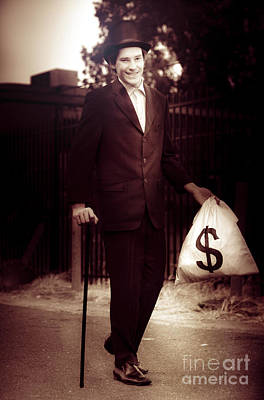 Man Walking The Streets Of Wealth And Prosperity Poster by Jorgo Photography - Wall Art Gallery