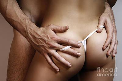 Man With His Hands On Woman's Butt Poster by MaximImages