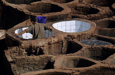 Man Working In A Tannery Poster by Sami Sarkis
