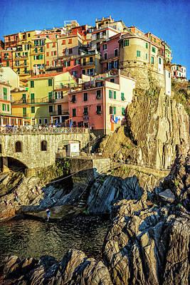 Manarola Afternoon Cinque Terre Italy Poster by Joan Carroll