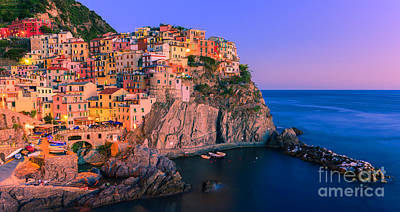 Manarola Is One Of The Five Towns That Make Up The Cinque Terre  Poster
