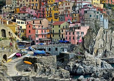 Manarola Up Close Poster by Frozen in Time Fine Art Photography