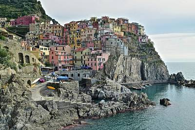 Poster featuring the photograph Manarola Version Three by Frozen in Time Fine Art Photography