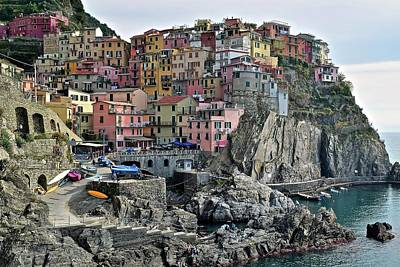 Poster featuring the photograph Manarola Version Two by Frozen in Time Fine Art Photography