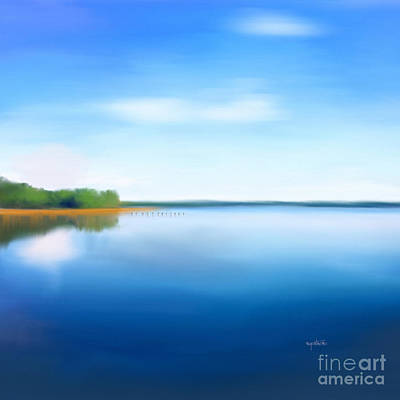 Poster featuring the painting Manasquan Reservoir by Catia Lee