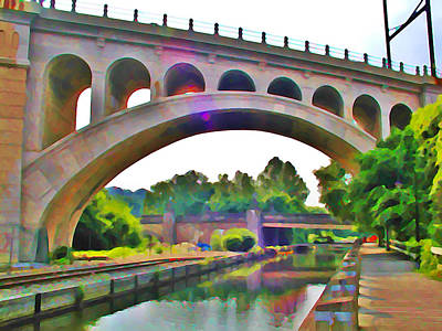 Manayunk Canal Poster by Bill Cannon