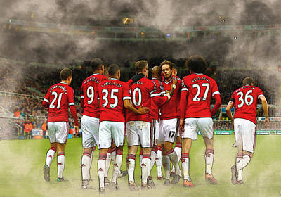 Manchester United  In Action  Poster